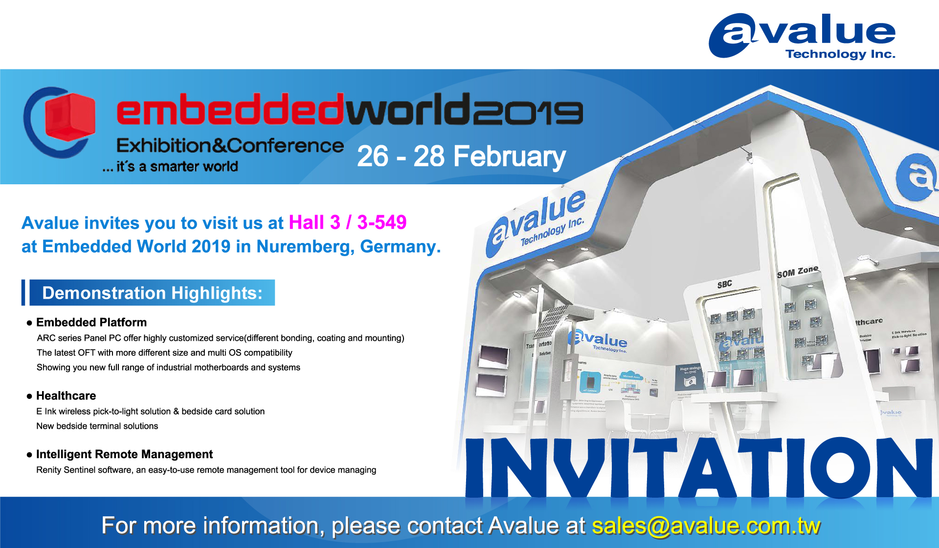 Embedded World 2019 - Avalue