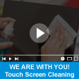 Touch panel PC cleaning, Ag+ coating inhibits the growth of bacterial organisms.<br>